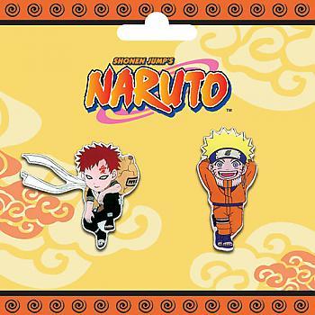 Naruto Pins - Gaara and Naruto (Set of 2)