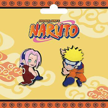 Naruto Pins - Sakura and Naruto (Set of 2)