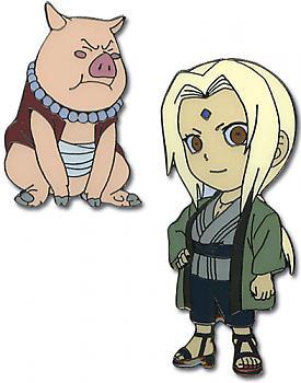 Naruto Pins - Tsunade and Tonton (Set of 2)