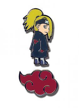 Naruto Shippuden Pins - Chibi Deidara and Clouds (Set of 2)