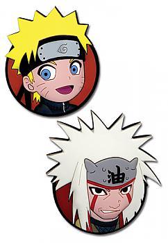 Naruto Shippuden Pins - Chibi Naruto and Jiraiya Portraits (Set of 2)