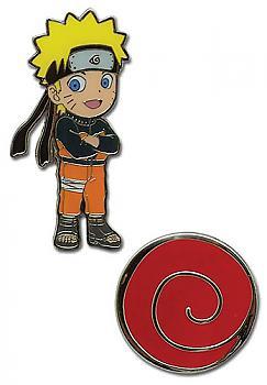Naruto Shippuden Pins - Chibi Naruto and Uzushio Clan Symbol (Set of 2)