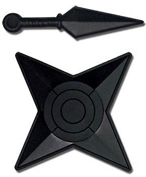 Naruto Shippuden Pins - Star and Kunai Weapon (Set of 2)