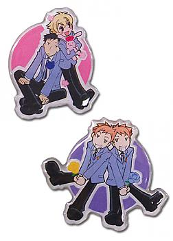 Ouran High School Host Club Pins - 4 Characters (Set of 2)