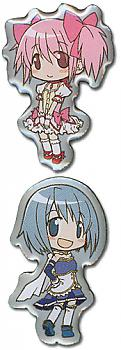 Puella Magi Madoka Magica Pins - Madoka and Sayaka (Set of 2)