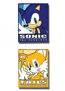 Sonic Pins - Sonic and Tails Frame (Set of 2)