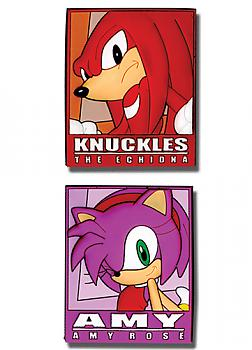 Sonic The Hedgehog Pins - Knuckles and Amy Frame (Set of 2)