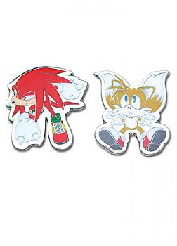 Sonic X Pins - Knuckles and Tails (Set of 2)