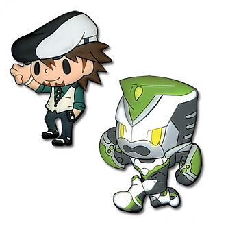 Tiger & Bunny Pins - Kotetsu & Wild Tiger (Set of 2)