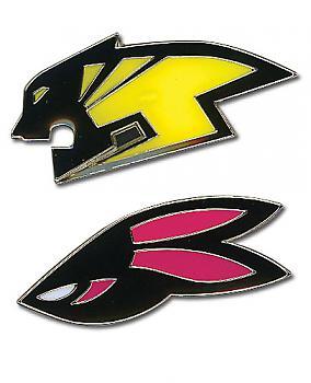 Tiger & Bunny Pins - Wild Tiger & Bunny Head Logo (Set of 2)