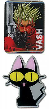 Trigun Pins - Vash & Neko (Set of 2)