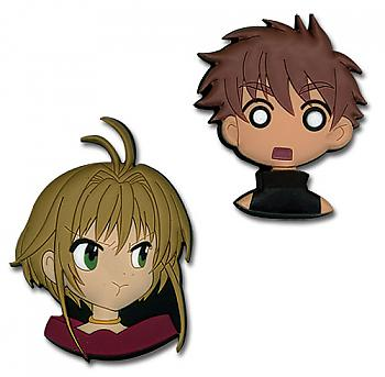 Tsubasa Pins - Sakura and Syaoran Heads (Set of 2)
