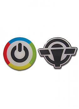 Vividred Operation Pins - Icon & School Logo (Set of 2)