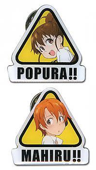Wagnaria!! Pins - Popura & Mahiru Metal (Set of 2)