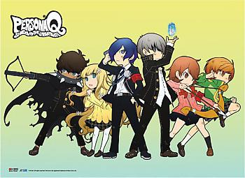 Persona Q Wall Scroll - Line Up [LONG]