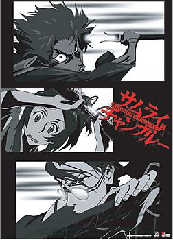 Samurai Champloo Wall Scroll - Group Black and White
