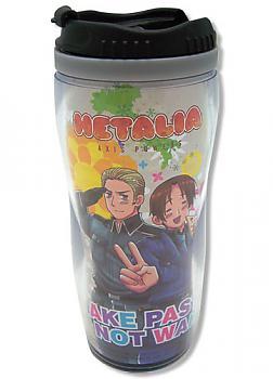 Hetalia: Axis Powers Tumbler Mug - Make Pasta Not War