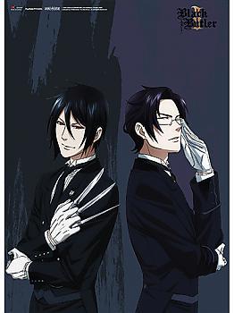 Black Butler 2 Wall Scroll - Sebastian & Claude Standing