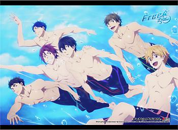 Free! Fabric Poster - Boys Swimming