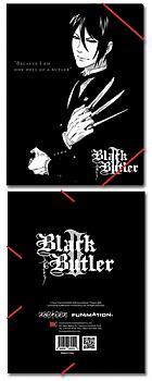 Black Butler 2 Elastic Band File Folder - Sebastian Emblem