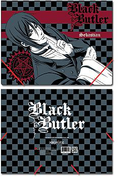 Black Butler Elastic Band File Folder - Sebastian Gray