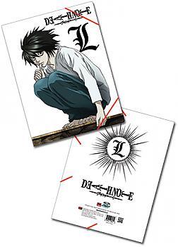 Death Note Elastic Band File Folder - L Emblem