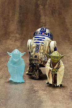 Star Wars ArtFX+ 1/10 Scale Figure - R2-D2 & Yoda Dagobah (2-Pack)