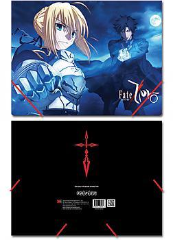 Fate/Zero Elastic Band File Folder - Saber & Kiritsugu