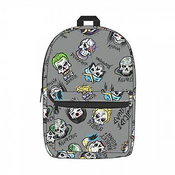 Suicide Squad Backpack - All Over Printed Skulls Sublimated