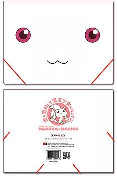 Puella Magi Madoka Magica Elastic Band File Folder - Kyubey Face