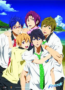 Free! Wall Scroll - Nagisa, Haruka, Makoto, Rin & Rei