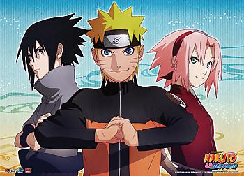 Naruto Shippuden Wall Scroll - Naruto, Sasuke & Sakura Key Art [LONG]