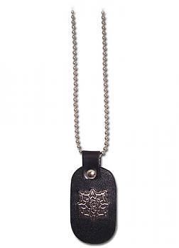 Vampire Knight Necklace - Cross Academy Rose Logo Leather