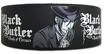 Black Butler Wristband - Sebastian Shhhh (Book of Circus)