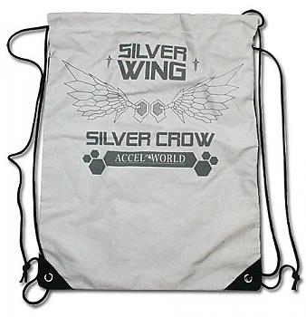 Accel World Drawstring Backpack - Silver Crow Wings