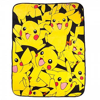 Pokemon Throw Blanket - Pikachu Collage