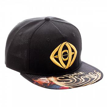 Doctor Strange Cap - Metallic Eye Sublimated Bill Snapback