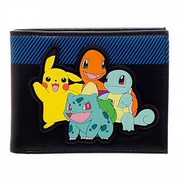 Pokemon Bifold Wallet - Starters Rubber Patch