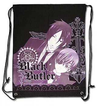 Black Butler Drawstring Backpack - Sebastian & Ciel