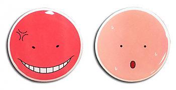 Assassination Classroom Pins - Koro Sensei Angry & Hot (Set of 2)