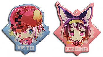 No Game No Life Pins - Izuna & Teto (Set of 2)