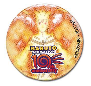 Naruto Shippuden Button - Bijumode 10th Anniversary