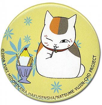 Natsume's Book Of Friends 1.25'' Button - Nyanko's Ice Cream