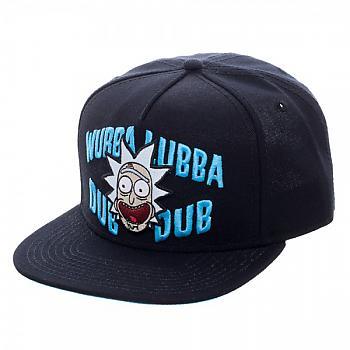 Rick and Morty Cap - Wubba Black Snapback