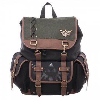 Zelda Backpack - Link Ruck Sack W/ Metal Badge and PU