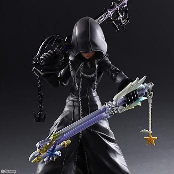 Kingdom Hearts II Play Arts Kai Action Figure - Roxas (Organization XIII Ver.)