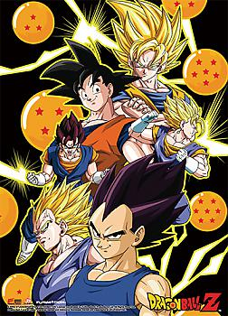 Dragon Ball Z Fabric Poster - Vegeta, Goku & Vegito