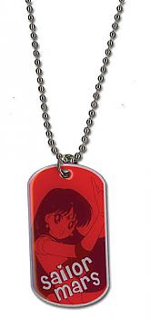 Sailor Moon Necklace - Dog Tag Sailor Mars