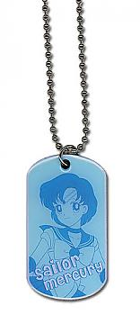 Sailor Moon Necklace - Dog Tag Sailor Mercury