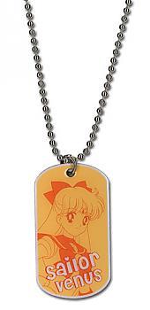 Sailor Moon Necklace - Dog Tag Sailor Venus
